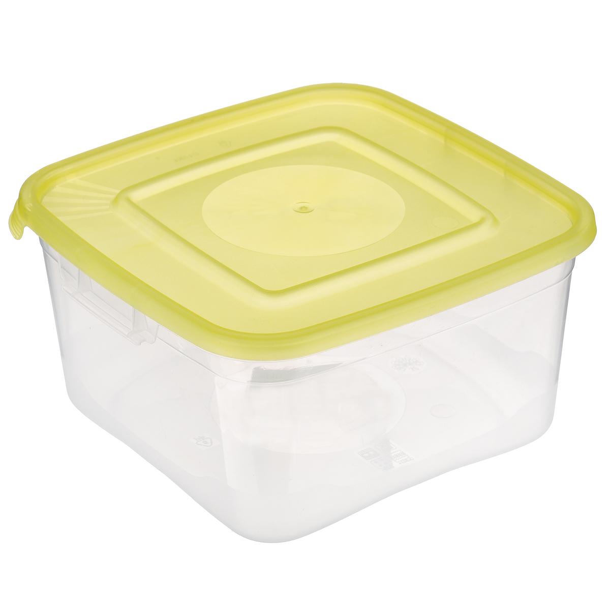 Контейнер Полимербыт Каскад, цвет: прозрачный, желтый, 1 лFD 992Контейнер Полимербыт Каскад квадратной формы, изготовленный из прочного пластика, предназначен специально для хранения пищевых продуктов. Крышка легко открывается и плотно закрывается.Контейнер устойчив к воздействию масел и жиров, легко моется. Прозрачные стенки позволяют видеть содержимое. Контейнер имеет возможность хранения продуктов глубокой заморозки, обладает высокой прочностью. Можно мыть в посудомоечной машине. Подходит для использования в микроволновых печах.