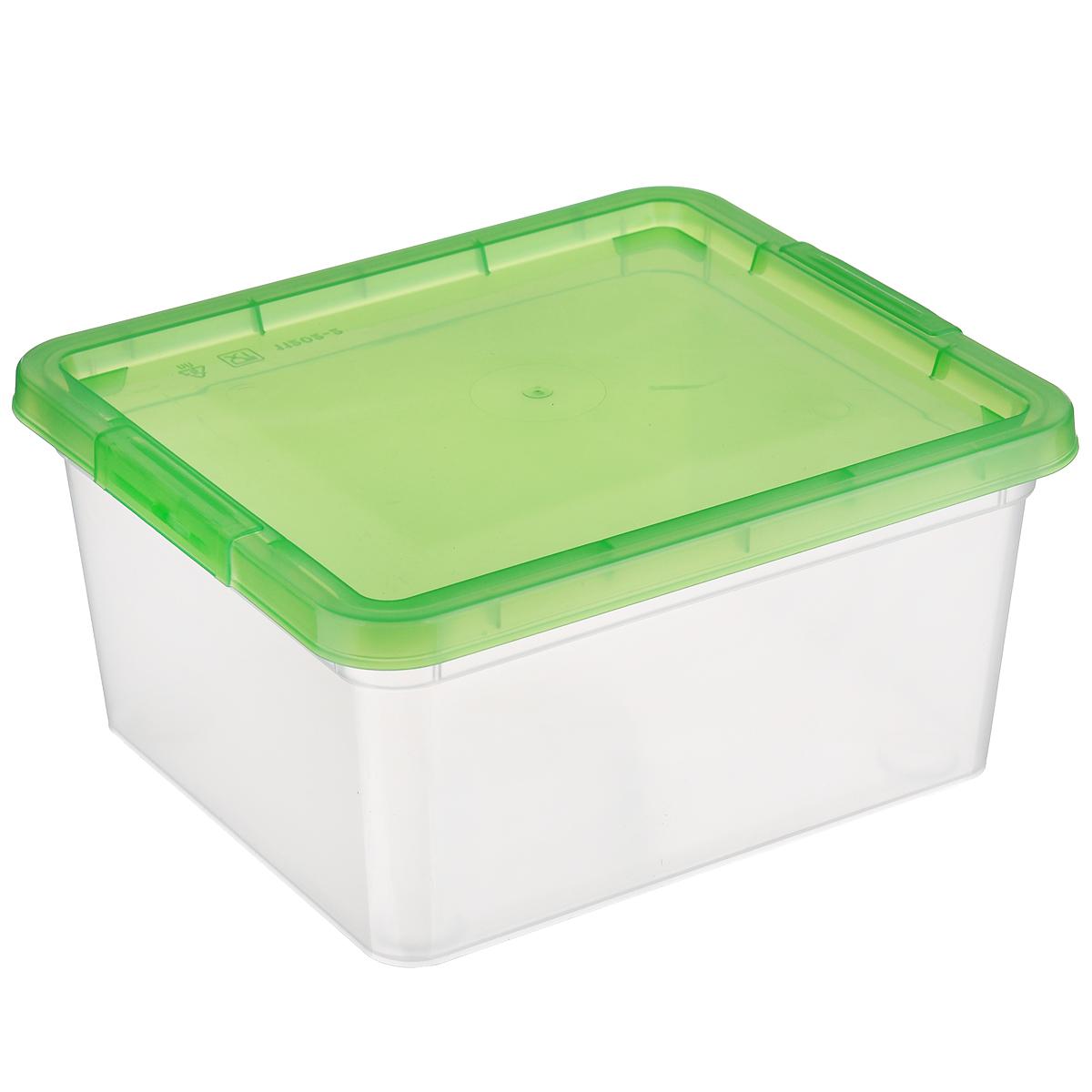 Коробка для мелочей Полимербыт, цвет: зеленый, 1,9 л74-0120Коробка для мелочей Полимербыт изготовлена из прочного пластика. Стенки изделия прозрачные, что позволяет видеть содержимое. Цветная полупрозрачная крышка плотно закрывается и легко открывается. Коробка идеально подходит для хранения различных мелких бытовых предметов, таких как канцелярские принадлежности, аксессуары для рукоделия и т.д. Такая коробка сохранит все мелкие предметы в одном месте и поможет поддерживать в доме порядок.