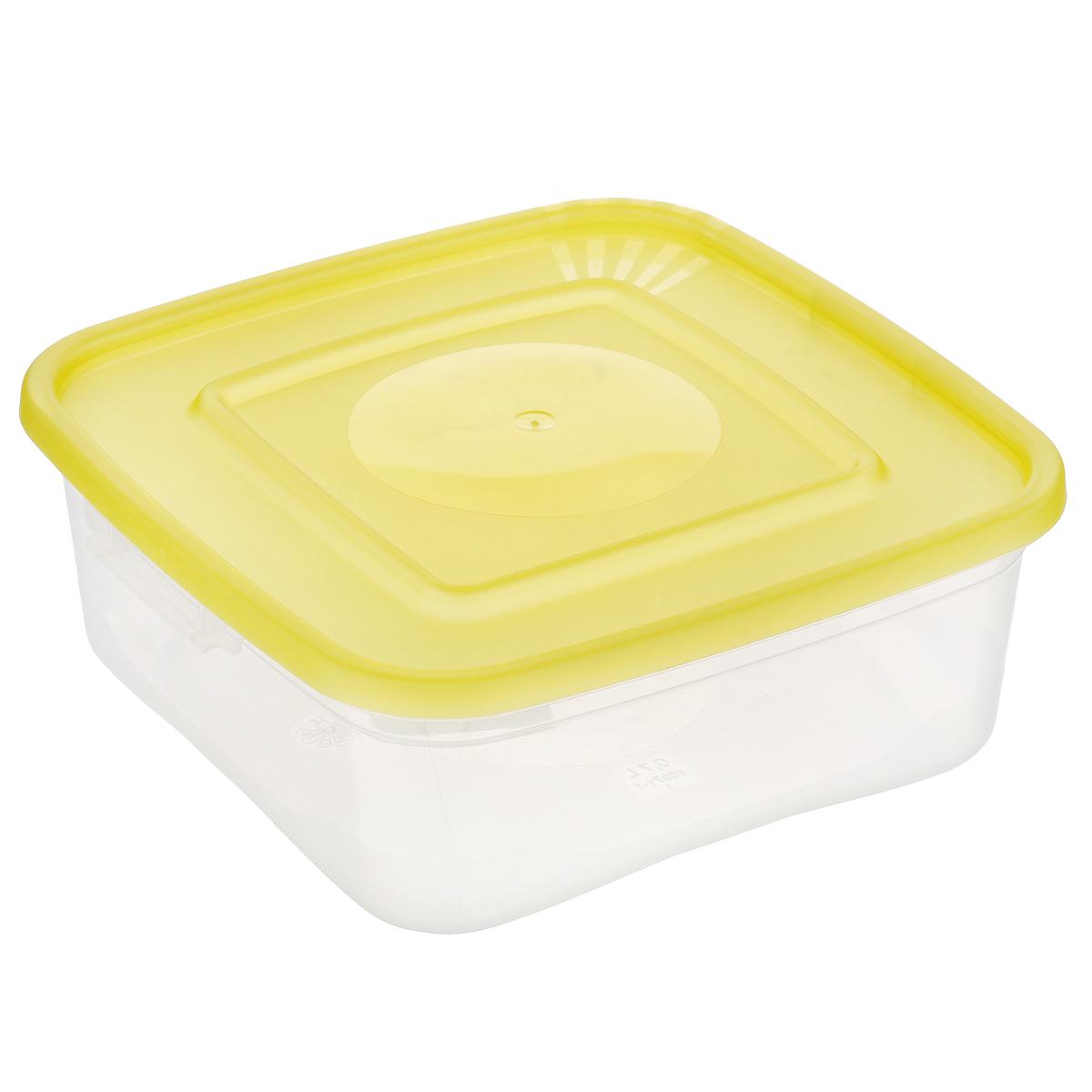 Контейнер для СВЧ Полимербыт Каскад, цвет: желтый, прозрачный, 700 млД Дачно-Деревенский 20Контейнер для СВЧ Полимербыт Каскад изготовлен из высококачественного прочного пластика, устойчивого к высоким температурам (до +110°С). Стенки контейнера прозрачные, что позволяет видеть содержимое. Цветная полупрозрачная крышка плотно закрывается. Контейнер идеально подходит для хранения пищи, его удобно брать с собой на работу, учебу, пикник или просто использовать для хранения пищи в холодильнике.Можно использовать в микроволновой печи и для заморозки в морозильной камере. Можно мыть в посудомоечной машине.