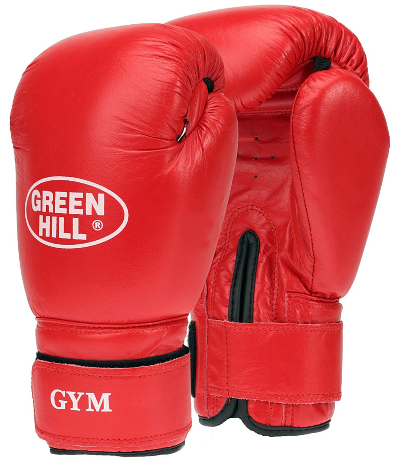 Перчатки боксерские Green Hill Gym, цвет: красный. Вес 10 унцийAIRWHEEL Q3-340WH-BLACKБоксерские перчатки Green Hill Gym специально разработаны для тренировочных спаррингов. Верх выполнен из натуральной кожи, наполнитель - из предварительно сформированного пенополиуретана. Перфорированная поверхность в области ладони позволяет создать максимально комфортный терморежим во время занятий. Широкий ремень, охватывая запястье, полностью оборачивается вокруг манжеты, благодаря чему создается дополнительная защита лучезапястного сустава от травмирования. Застежка на липучке способствует быстрому и удобному одеванию перчаток, плотно фиксирует перчатки на руке.