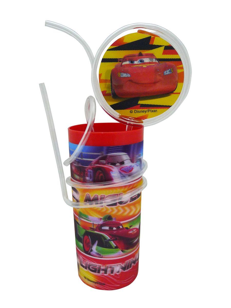 """Яркий пластиковый стакан Disney """"Тачки"""", выполненный из безопасного пищевого пластика, оформлен изображениями героев мультфильма """"Тачки"""". Рисунок находится под слоем прозрачного структурного пластика (линзы), создающего эффект объемного изображения, как в 3D кино, и исключает попадание краски в жидкость. В комплект входят соломинка и трубочка, выполненные из полупрозрачного пластика. Соломинка необычно изогнута, при питье можно наблюдать, как жидкость бежит по ней и оформлена вставкой с меняющимися изображениями. Трубочка обвита вокруг стакана. Стакан без трубочки можно использовать как подставку под карандаши или зубные щетки. Порадуйте вашего ребенка таким замечательным подарком. Объем стакана: 330 мл. Диаметр стакана (по верхнему краю): 6 см. Высота стакана: 13,5 см."""