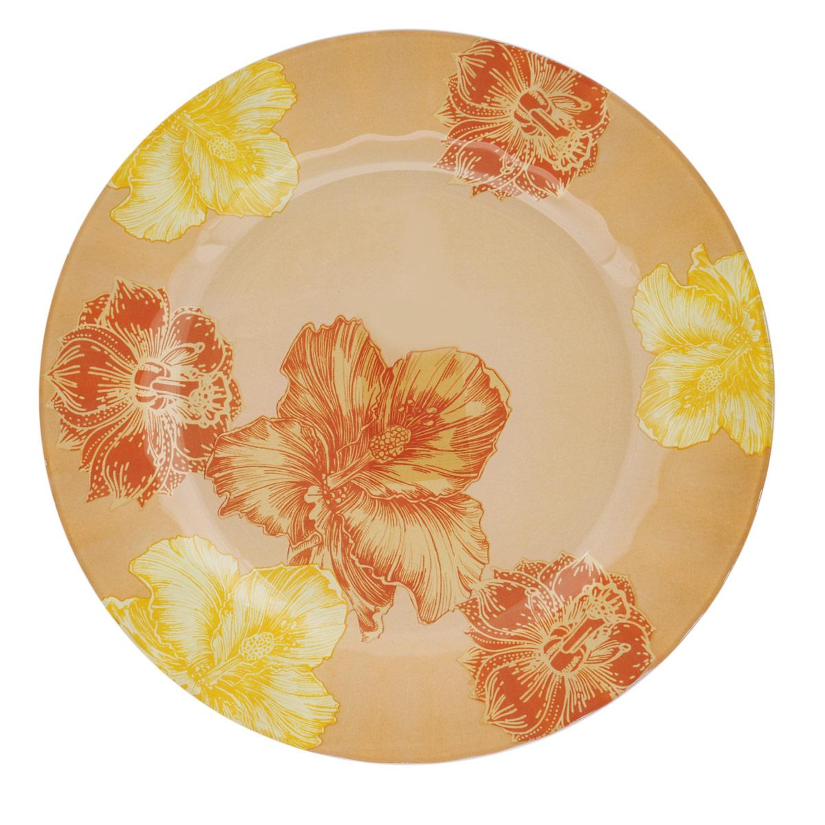 Тарелка House & Holder Цветы, диаметр 25 см. S3010EG00854 009312Круглая тарелка House & Holder Цветы, изготовленная из стекла, декорирована ярким изображением. Такая тарелка украсит сервировку вашего стола и подчеркнет прекрасный вкус хозяина, а также станет отличным подарком. Диаметр: 25 см. Высота: 1,9 см.