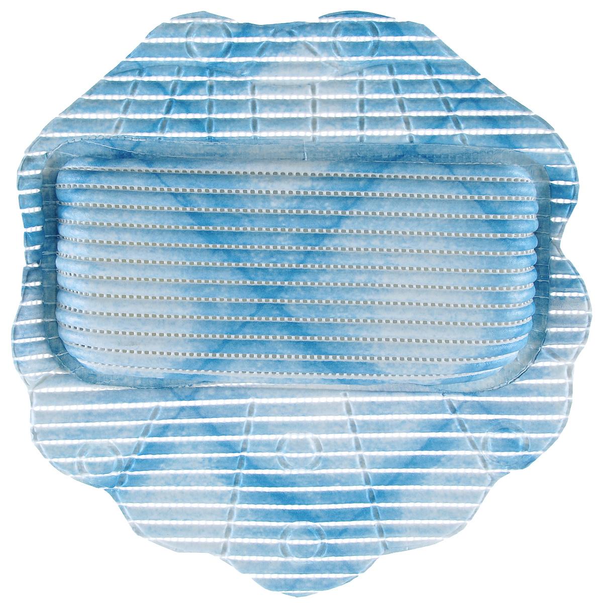 Подушка для ванны Fresh Code Flexy, цвет: синий, 33 см х 33 см12723Подушка для ванны Fresh Code Flexy обеспечивает комфорт во время принятия ванны. Крепится на поверхность ванной с помощью присосок. Выполнена из ПВХ.
