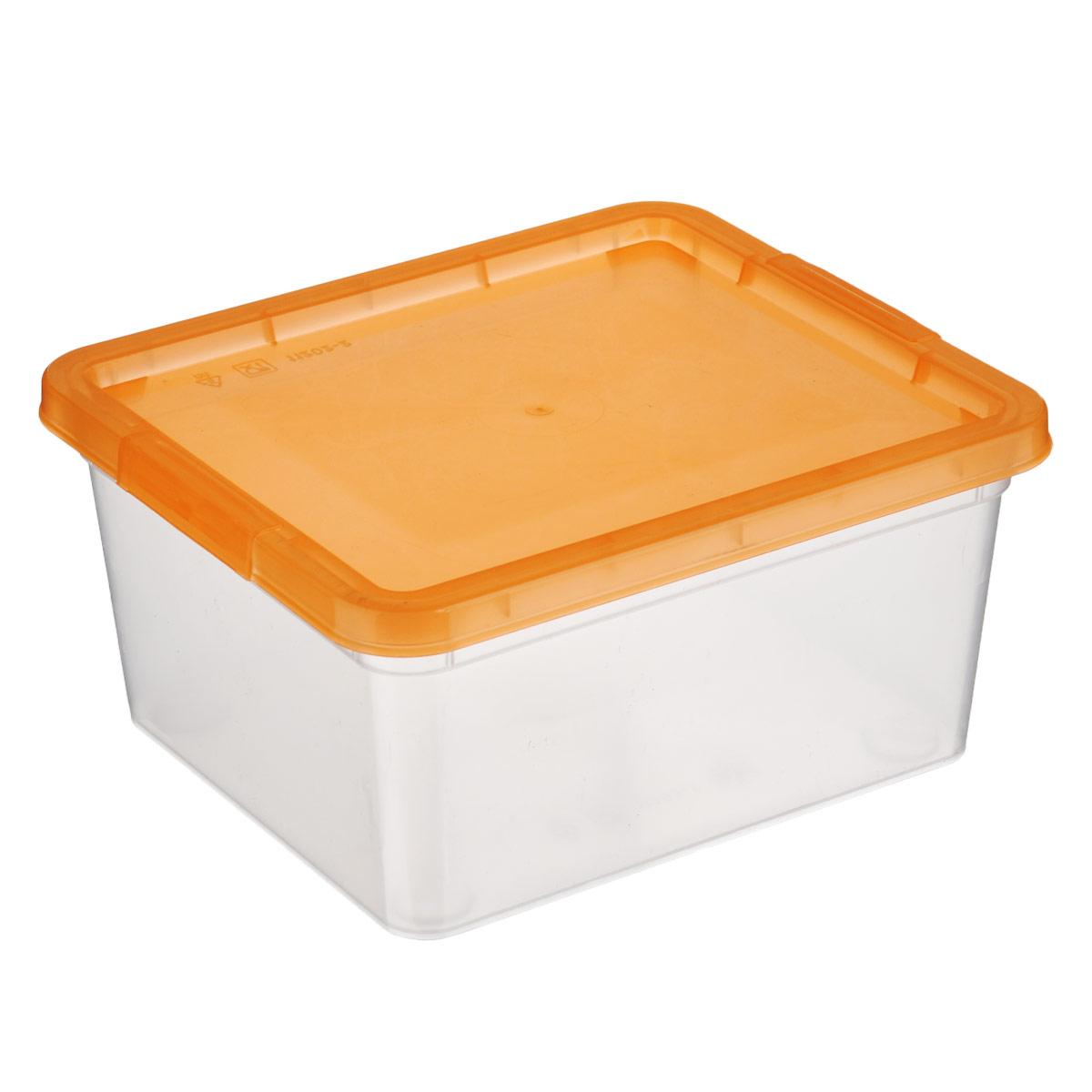 Коробка для мелочей Полимербыт, цвет: оранжевый, 1,9 лRG-D31SКоробка для мелочей Полимербыт изготовлена из прочного пластика. Стенки изделия прозрачные, что позволяет видеть содержимое. Цветная полупрозрачная крышка плотно закрывается и легко открывается. Коробка идеально подходит для хранения различных мелких бытовых предметов, таких как канцелярские принадлежности, аксессуары для рукоделия и т.д. Такая коробка сохранит все мелкие предметы в одном месте и поможет поддерживать в доме порядок.
