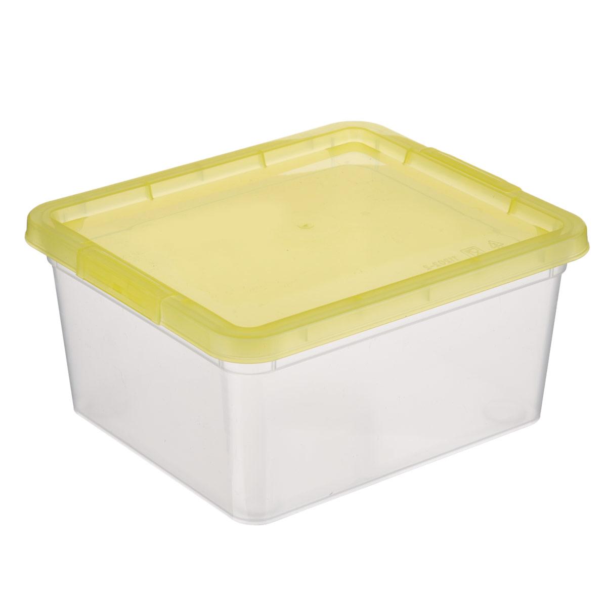Коробка для мелочей Полимербыт, цвет: желтый, 1,9 л10503Коробка для мелочей Полимербыт изготовлена из прочного пластика. Стенки изделия прозрачные, что позволяет видеть содержимое. Цветная полупрозрачная крышка плотно закрывается и легко открывается. Коробка идеально подходит для хранения различных мелких бытовых предметов, таких как канцелярские принадлежности, аксессуары для рукоделия и т.д. Такая коробка сохранит все мелкие предметы в одном месте и поможет поддерживать в доме порядок.