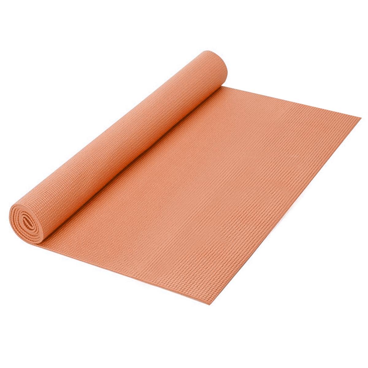 Коврик для йоги Easy Body, 172 см х 61 см х 0,3 см, цвет: оранжевый260400Коврик для йоги Easy Body сделает Ваши занятия спортом комфортными и приятными. Так как многие упражнения выполняются лежа на полу, и чтобы не простудиться и не испачкать одежду, Вам просто необходим чистый, мягкий и теплоизолирующий коврик. Коврик удобно расстилается и легко сворачивается, не занимает много места.