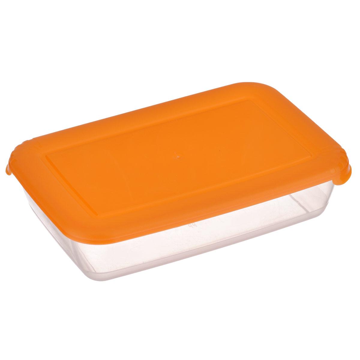 Контейнер для СВЧ Полимербыт Лайт, цвет: оранжевый, 0,45 л4630003364517Прямоугольный контейнер для СВЧ Полимербыт Лайт изготовлен из высококачественного прочного пластика, устойчивого к высоким температурам (до +120°С). Цветная полупрозрачная крышка плотно закрывается, дольше сохраняя продукты свежими и вкусными. Контейнер идеально подходит для хранения пищи, его удобно брать с собой на работу, учебу, пикник или просто использовать для хранения пищи в холодильнике.Подходит для разогрева пищи в микроволновой печи и для заморозки в морозильной камере (при минимальной температуре -40°С). Можно мыть в посудомоечной машине.