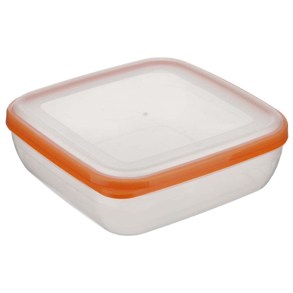 Контейнер для СВЧ Полимербыт Премиум, цвет: оранжевый, 1,7 л4630003364517Квадратный контейнер для СВЧ Полимербыт Премиум изготовлен из высококачественного прочного пластика, устойчивого к высоким температурам (до +110°С). Крышка плотно и герметично закрывается, дольше сохраняя продукты свежими и вкусными. Контейнер идеально подходит для хранения пищи, его удобно брать с собой на работу, учебу, пикник или просто использовать для хранения продуктов в холодильнике.Подходит для разогрева пищи в микроволновой печи и для заморозки в морозильной камере (при минимальной температуре -40°С). Можно мыть в посудомоечной машине.