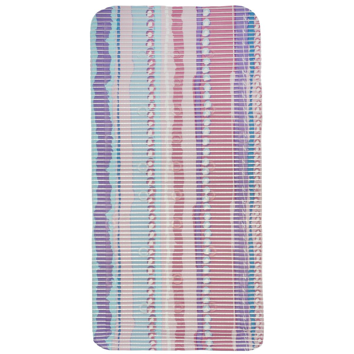 Коврик для ванной Fresh Code, на присосках, цвет: розовый, 90 см х 43 см391602Коврик для ванной Fresh Code из мягкого ПВХ создаст комфортное антискользящее покрытие в ванной. Крепится ко дну ванны при помощи присосок. Может также использоваться в качестве покрытия для ванной комнаты.Рекомендации по уходу: протрите коврик влажной губкой с мягким моющим средством, тщательно ополосните чистой водой и просушите.