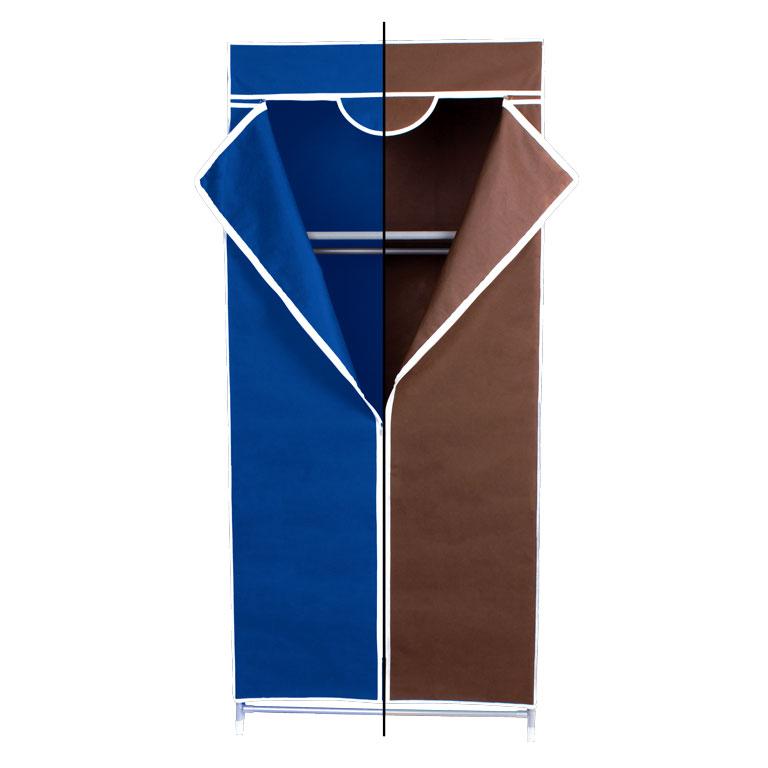 Гардероб для хранения одежды Miolla, цвет: синий, коричневый, 150 х 67 х 42 см12723Гардероб Miolla - это идеальное решение для хранения одежды, обуви и аксессуаров. Само изделие выполнено из нетканого материала, а каркас - из прочного металла, благодаря чему изделие не деформируется и отлично сохраняет форму. Гардероб имеет перекладину и верхнюю полку. Такой гардероб поможет с легкостью организовать пространство в шкафу или гардеробе.