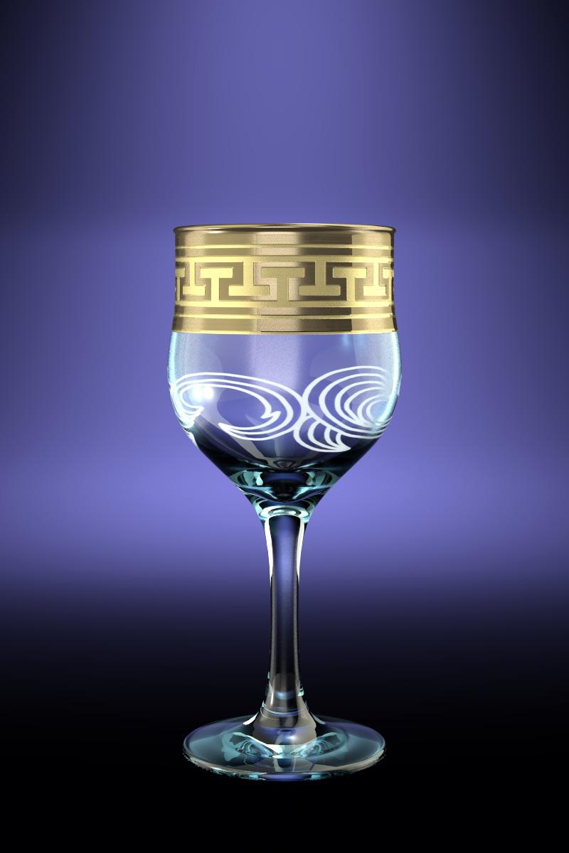 Набор 6 фужеров с рисунком Греческий узор 240 млVT-1520(SR)Набор 6 фужеров с рисунком Греческий узор 240 мл стекло