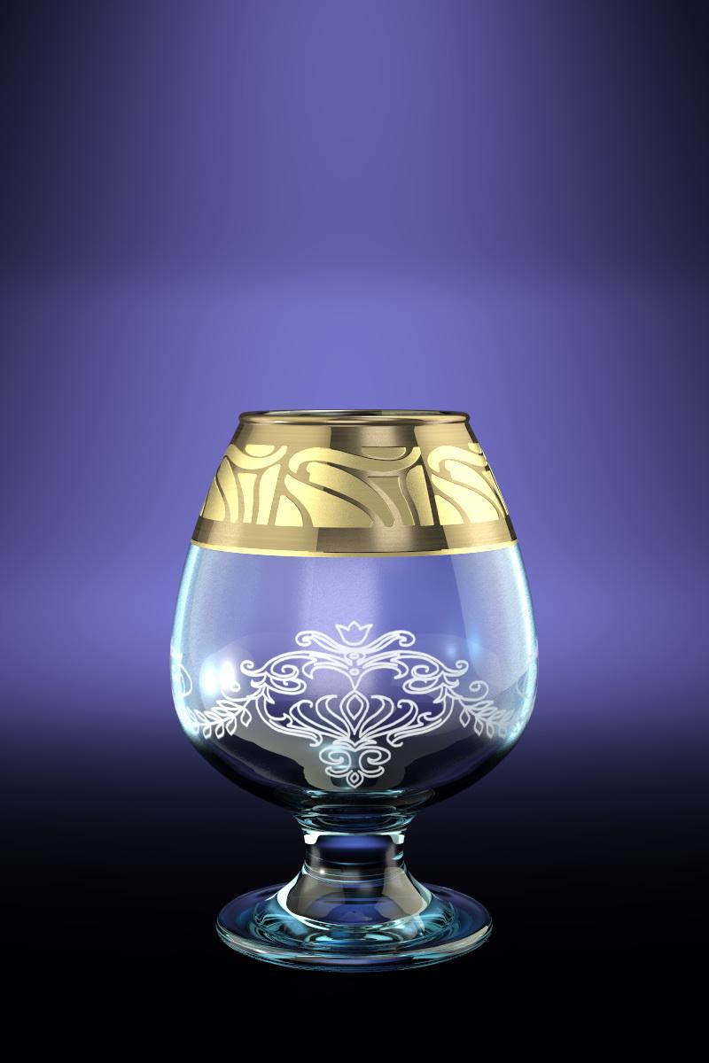 Набор бокалов для бренди Гусь-Хрустальный Мускат, 250 мл, 6 штVT-1520(SR)Набор Гусь-Хрустальный Мускат состоит из 6 бокалов на низкой ножке, изготовленных из высококачественного натрий-кальций-силикатного стекла. Изделия оформлены красивым зеркальным покрытием, широкой окантовкой с оригинальным узором и белым матовым орнаментом. Бокалы предназначены для подачи бренди. Такой набор прекрасно дополнит праздничный стол и станет желанным подарком в любом доме. Можно мыть в посудомоечной машине. Диаметр бокала (по верхнему краю): 5 см. Высота бокала: 12,2 см. Диаметр основания бокала: 6,5 см.