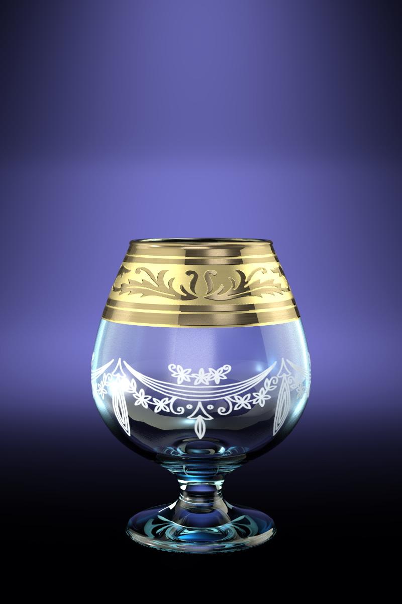 Набор 6 бокалов для бренди с рисунком Русский узор 400 млVT-1520(SR)Набор 6 бокалов для бренди с рисунком Русский узор 400 мл стекло