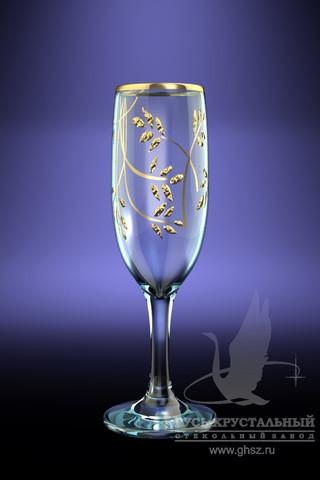 Набор 6 бокалов с рисунком Колосок 190 млVT-1520(SR)Набор 6 бокалов с рисунком Колосок 190 мл стекло