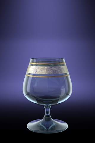 Набор 6 бокалов для бренди Эдем с рисунком Первоцвет 410 млVT-1520(SR)Набор 6 бокалов для бренди Эдем с рисунком Первоцвет 410 мл стекло