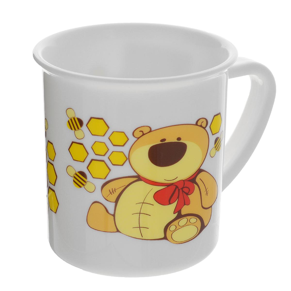 Canpol Babies Чашка детская Мишка цвет желтый115510Детская чашка Canpol Babies предназначена для того, чтобы приучить малыша пить из посуды для взрослых. Чашка выполнена из безопасного полипропилена и оформлена изображением забавного котика.Чашка выглядит совсем как обычная, однако она меньше по объему. Если случайно малыш уронит чашку, то она не разобьется.