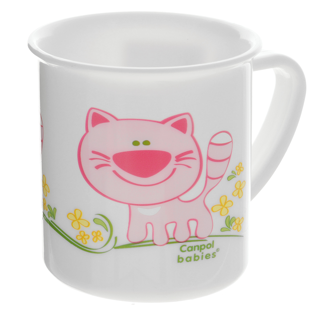 Canpol Babies Чашка детская Котенок цвет розовый4/413_розовый/котенокДетская чашка Canpol Babies предназначена для того, чтобы приучить малыша пить из посуды для взрослых. Чашка выполнена из безопасного полипропилена и оформлена изображением забавного котика.Чашка выглядит совсем как обычная, однако она меньше по объему. Если случайно малыш уронит чашку, то она не разобьется.