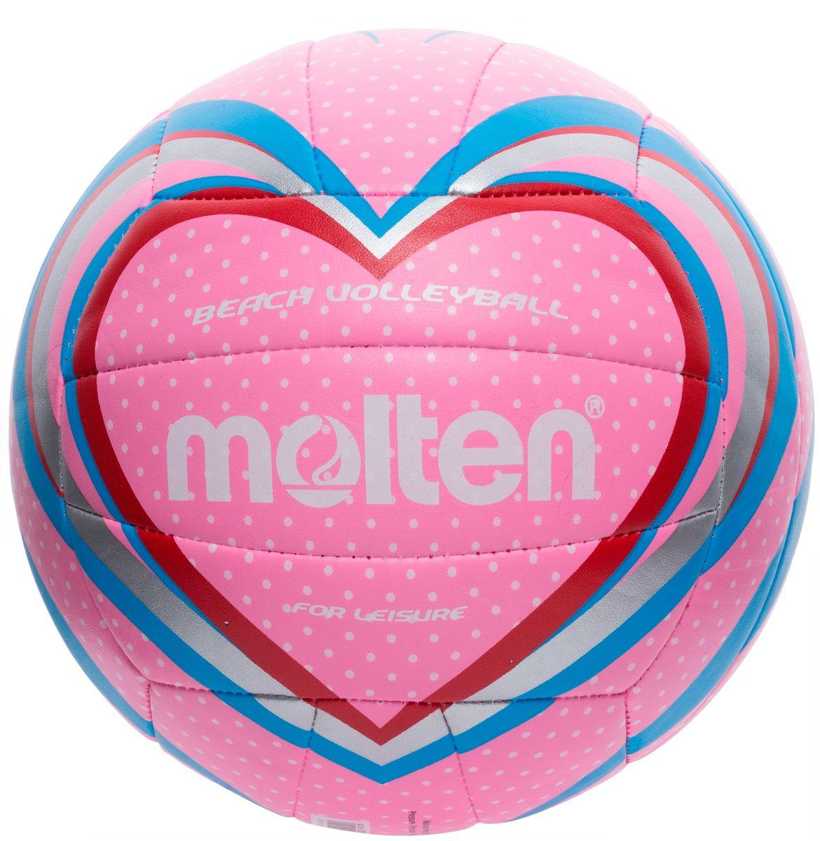 Мяч для пляжного волейбола Molten, цвет: розовый. Размер 5PU038Мяч Molten предназначен для занятий пляжным волейболом. Изготовлен из тонкой синтетической кожи для мягкого контакта с рукой. Машинное шитье.