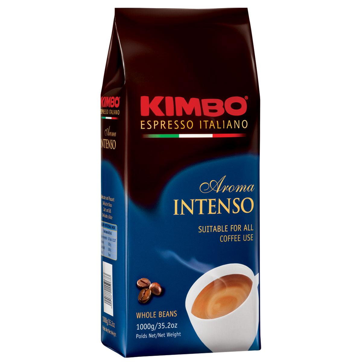 Kimbo Aroma Intenso кофе в зернах, 1 кг7610121710325Натуральный жареный кофе в зернах Kimbo Aroma Intenso. Крепкий, с шоколадным послевкусием и ярким ароматом. Изысканная смесь арабики и робусты придаёт «Кимбо Арома Интенсо» насыщенный вкус. Состав смеси: 80% арабика, 20% робуста.
