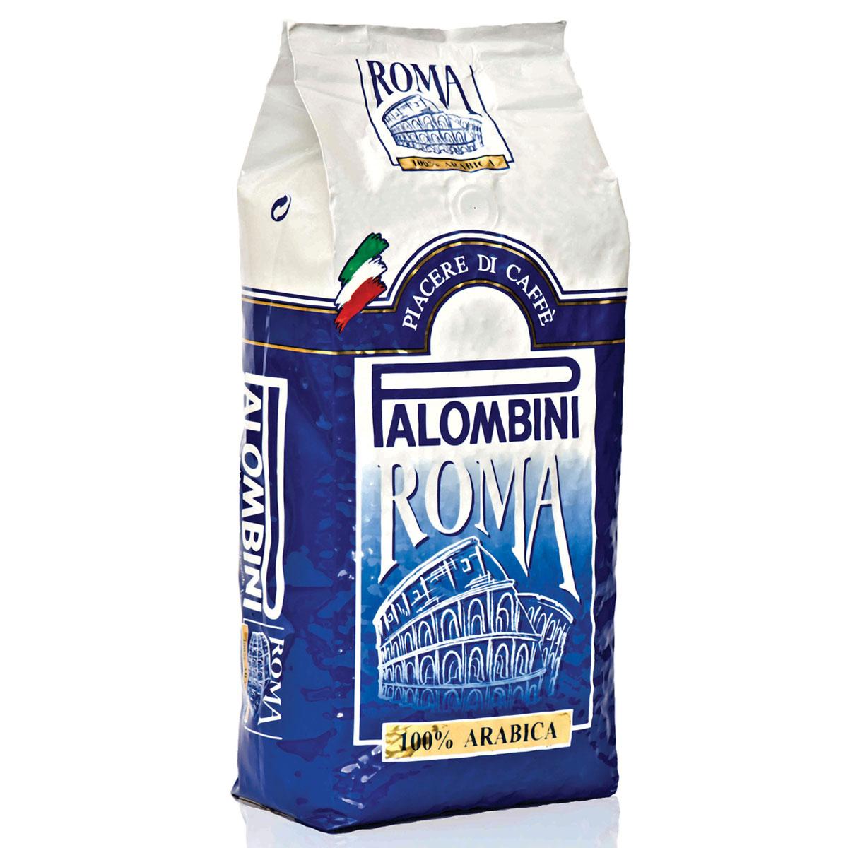 Palombini Roma 100% Arabica кофе в зернах, 1 кг8009785301830Натуральный жареный кофе в зернах Palombini Roma 100% Arabica, высшего сорта. Абсолютно лучшая смесь высококачественной 100% Арабики. Созданадля настоящих ценителей вкуса идеального кофе!