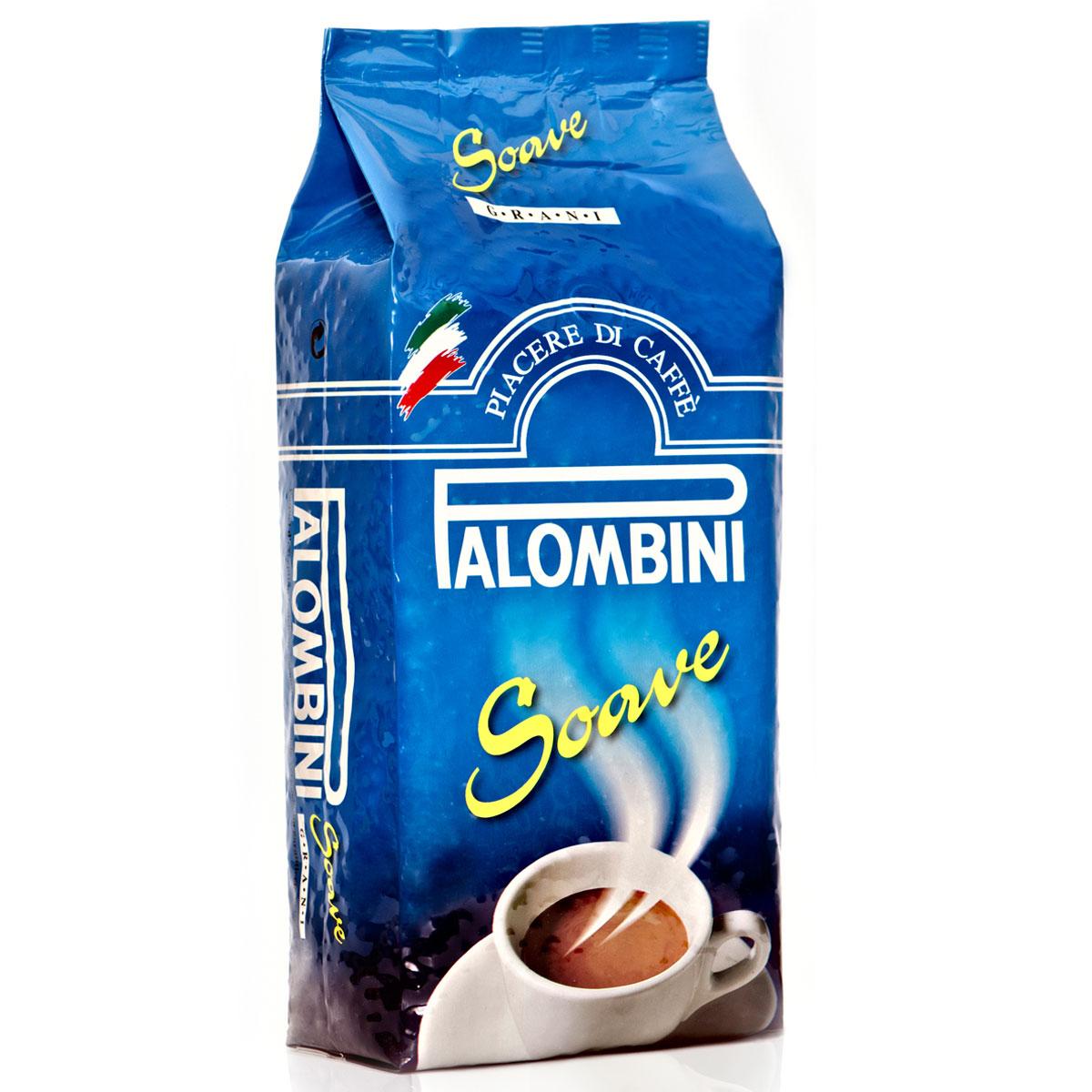 Palombini Soave кофе в зернах, 1 кг101246Натуральный жареный кофе высшего сорта Palombini Soave в зернах. Исключительный аромат и запоминающийся вкус . Рекомендуетсядля приготовления в домашних условиях. Состав смеси: 75% арабика, 25% робуста.