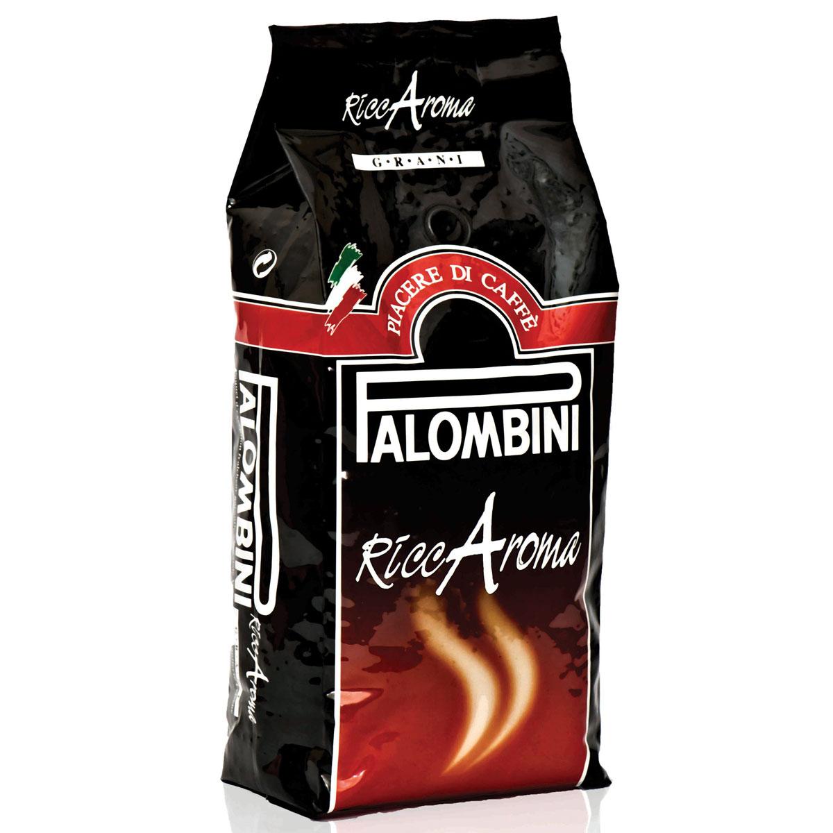 Palombini Riccaroma кофе в зернах, 1 кг0120710Натуральный жареный кофе в зернах Palombini Riccaroma, высшего сорта. Совершенное сочетание насыщенной консистенции и устойчивой пенки создает приятныймягкий вкус.Рекомендуется для приготовления: эспрессо, капучино, ристретто. Смесь содержит 90% арабики и 10% робусты.