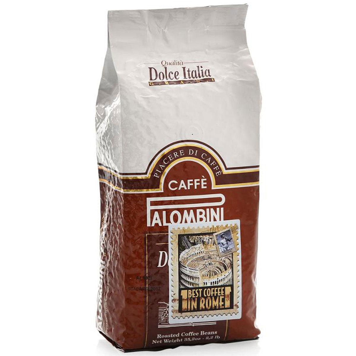 Palombini Dolce Italia кофе в зернах, 1 кг8000070020108Натуральный жареный кофе в зернах Palombini Dolce Italia, высшего сорта. Избранный знатоками вид кофейного многообразия. Идеальный вкус создан специально для влюбленных в кофе. Смесь содержит 95% арабики и 5% робусты.