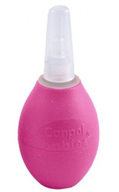 Аспиратор для носа  Canpol Babies , со сменными насадками, цвет: розовый -  Уход и здоровье