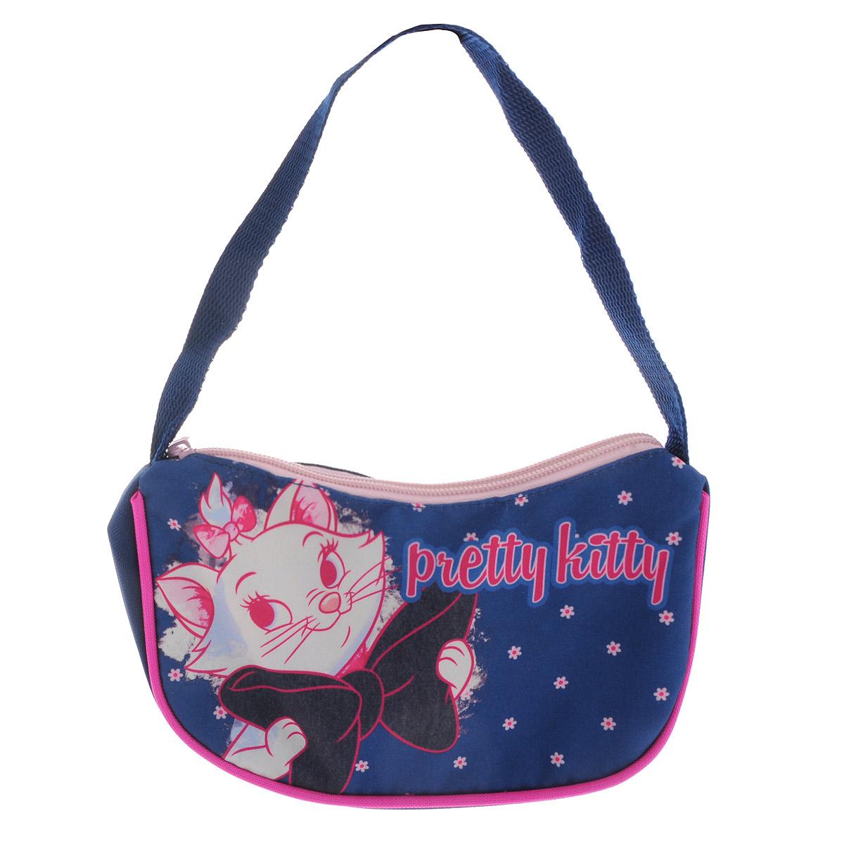 Яркая сумочка Marie Cat станет незаменимым аксессуаром для вашей маленькой модницы!  Она изготовлена из текстильного материала с изображением любимого мультипликационного героя. Сумка имеет одно отделение и закрывается на застежку-молнию.   Ваша малышка с удовольствием будет носить в ней свои вещи, любимые игрушки или аксессуары. Порадуйте ее таким замечательным подарком!