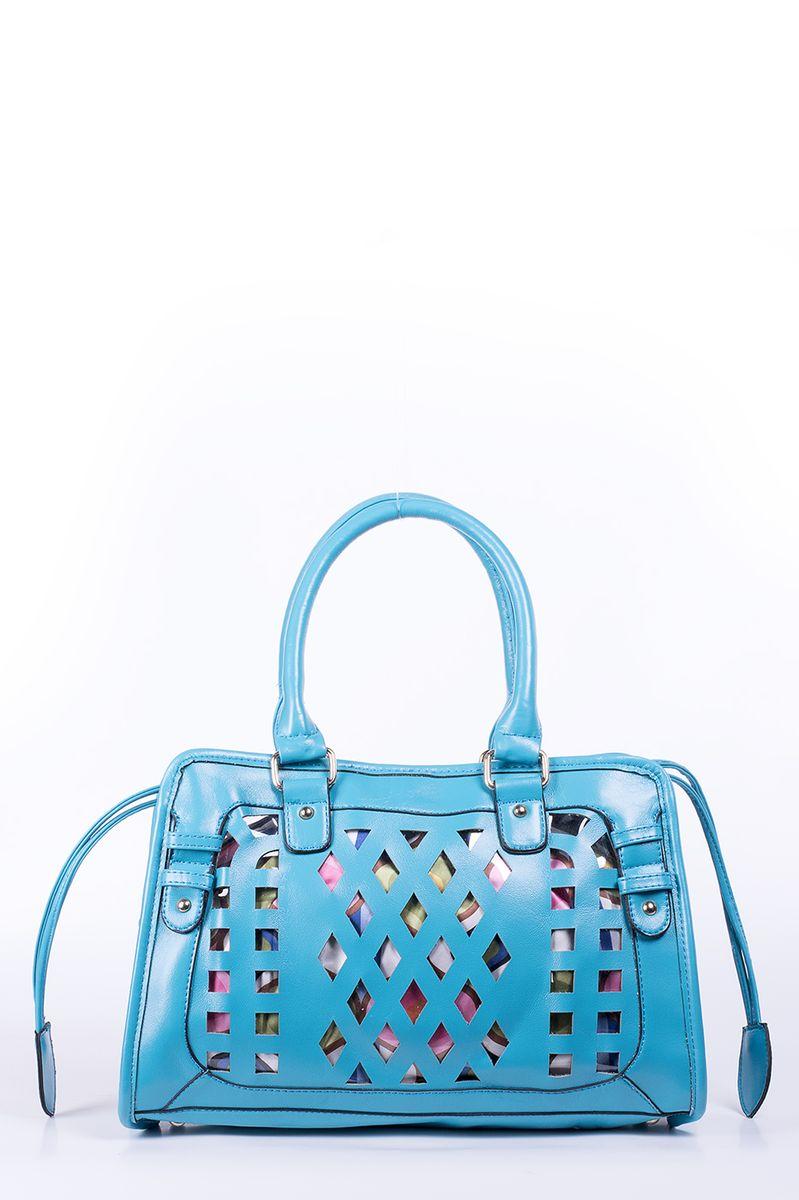 Сумка женская Renee Kler, цвет: синий. RK-08706S76245Яркая женская сумка Renee Kler изготовлена из искусственной кожи и прозрачного ПВХ. Изделие оформлено перфорацией. Модель имеет одно основное отделение. Сумка оснащена красочным текстильным чехлом на шнурке, который пристегивается на кнопки. Внутри чехла имеется два пришивных кармана и прорезной карман на молнии. Изделие можно использовать и без чехла. Сумка оснащена двумя ручками для удобной переноски в руках. Изделие упаковано в фирменный чехол на кулике.Роскошная сумка внесет яркие нотки в ваш образ и подчеркнет ваше отменное чувство стиля.