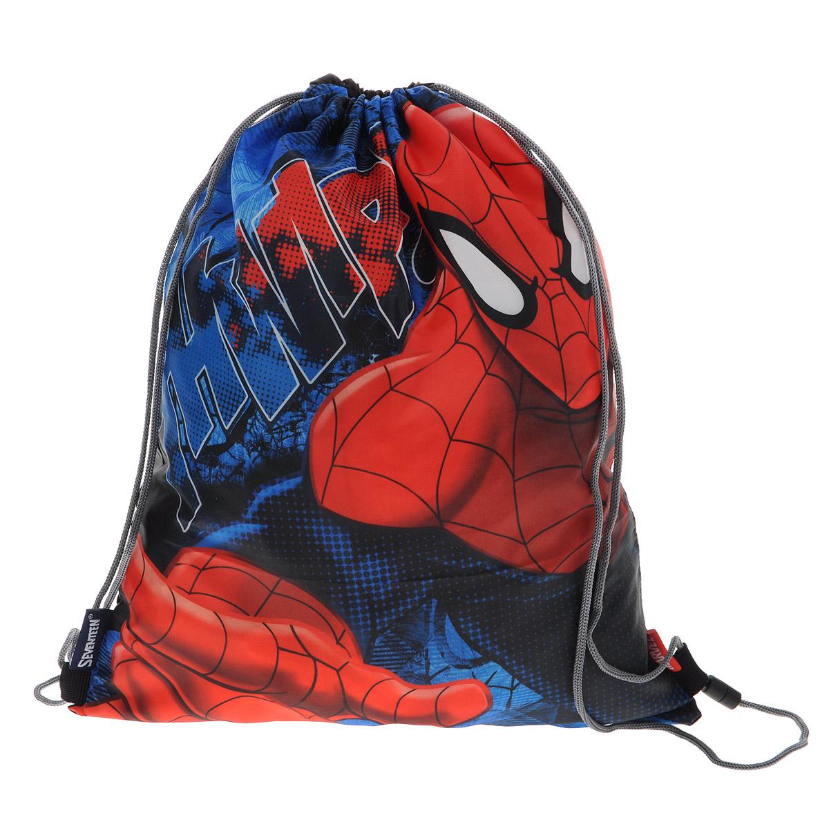 Сумка для сменной обуви Spider-Man Classic идеально подходит как для хранения, так и для переноски сменной обуви и одежды.  Сумка выполнена из прочного водонепроницаемого полиэстера и содержит одно вместительное отделение, затягивающееся с помощью текстильных шнурков. Шнурки фиксируются в нижней части сумки, благодаря чему ее можно носить за спиной как рюкзак.  Оформлено изделие изображением героя любимого мультфильма Человек-Паук. Ваш ребенок с радостью будет ходить с таким аксессуаром в школу.