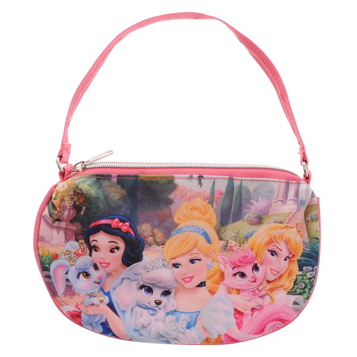 Сумочка Princess, цвет: розовый. PRCB-UT4-401737173Яркая сумочка Princess станет незаменимым аксессуаром для вашей маленькой модницы!Она изготовлена из текстильного материала и оформлена объемной аппликацией в виде изображений любимых сказочных героев. Сумка имеет одно отделение и закрывается на застежку-молнию. Ваша малышка с удовольствием будет носить в ней свои вещи, любимые игрушки или аксессуары. Порадуйте ее таким замечательным подарком!