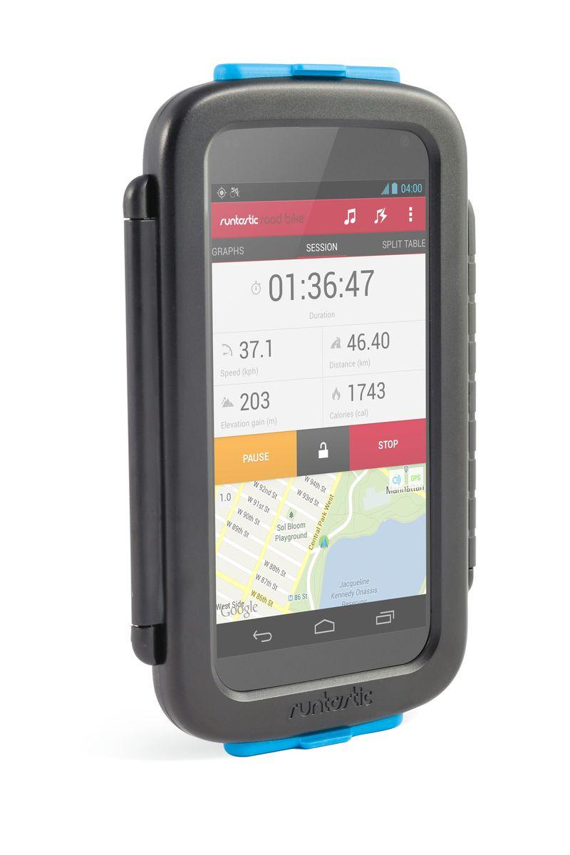 Крепление велосипедное для смартфонов Runtastic, цвет: черныйMHDR2G/AУниверсальное велосипедное крепление Runtastic для смартфонов выполнено из прочного пластика с резиновыми заглушками сверху и снизу.Особенности крепления:Ударо- и пылезащитный корпус. Возможность работать с сенсорным экраном, использовать обе камеры и наушники. Устанавливается без использования инструментов на руль или вынос велосипеда. Смартфон можно установить горизонтально или вертикально на креплении. Мягкие проставки позволят разместить в чехле почти любой смартфон. Подходит для: iPhone 4/4S/5/5S/5C/6, Samsung S3/S4/S5 и других. Промо-код от платной версии приложения в комплекте. Максимальный размер смартфона: 14,2 см х 7,3 см х 0,8 см.