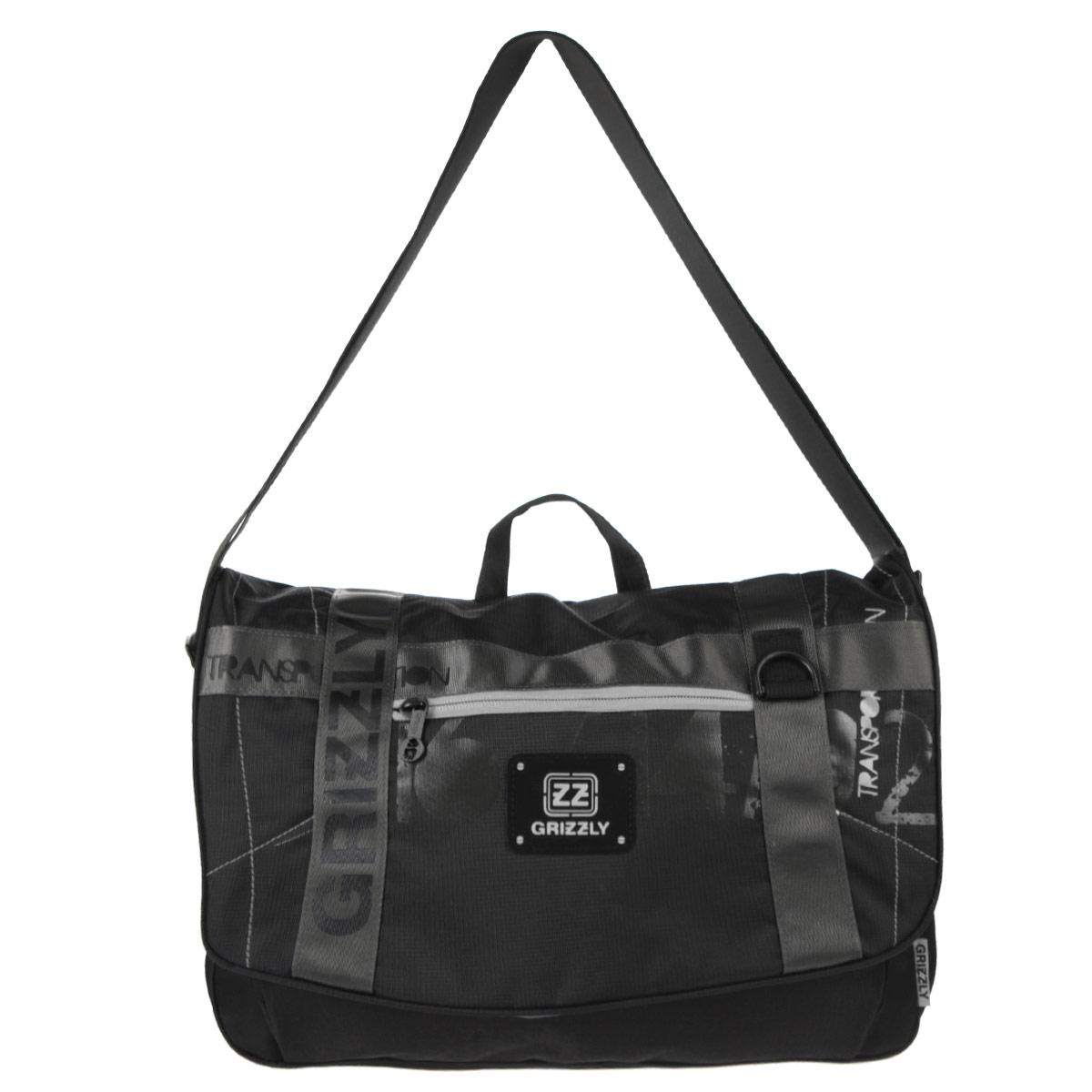 Grizzly Сумка школьная цвет черный серый MM-504-272523WDСумка молодежная наплечная с одним отделением, передними, боковыми, задним и внутренними карманами, ручкой для переноски и регулируемым плечевым ремнем. Модель закрывается клапаном на липучках.
