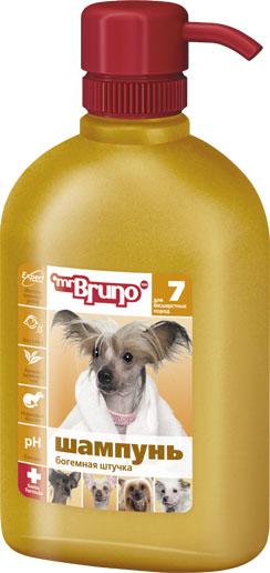 Шампунь-кондиционер для собак Mr. Bruno Богемная штучка, для бесшерстных пород, 350 мл0120710Шампунь-кондиционер Mr. Bruno Богемная штучка для бесшерстных пород собак. Рекомендуется для собак бесшерстных пород или частично бесшерстных. норковое масло обеспечивают мягкое очищение и бережный уход за нежной кожей; экстракт зеленого чая создаёт неповторимый нежный аромат;PVP - комплекс устраняет сухость и раздражение кожи. Товар сертифицирован.