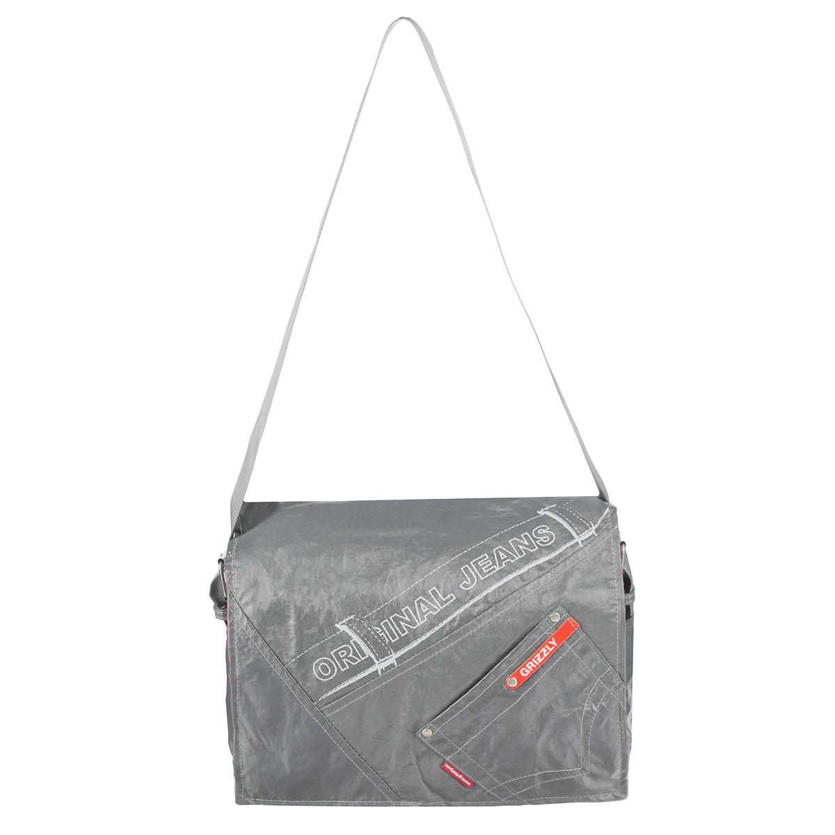 Сумка школьная Grizzly, цвет: серый. MM-340-23905/TGМолодежная сумка с двумя отделениями, с плоским карманом на передней стенке, внутренним карманом для документов и карманом-пеналом, с регулируемым плечевым ремнем