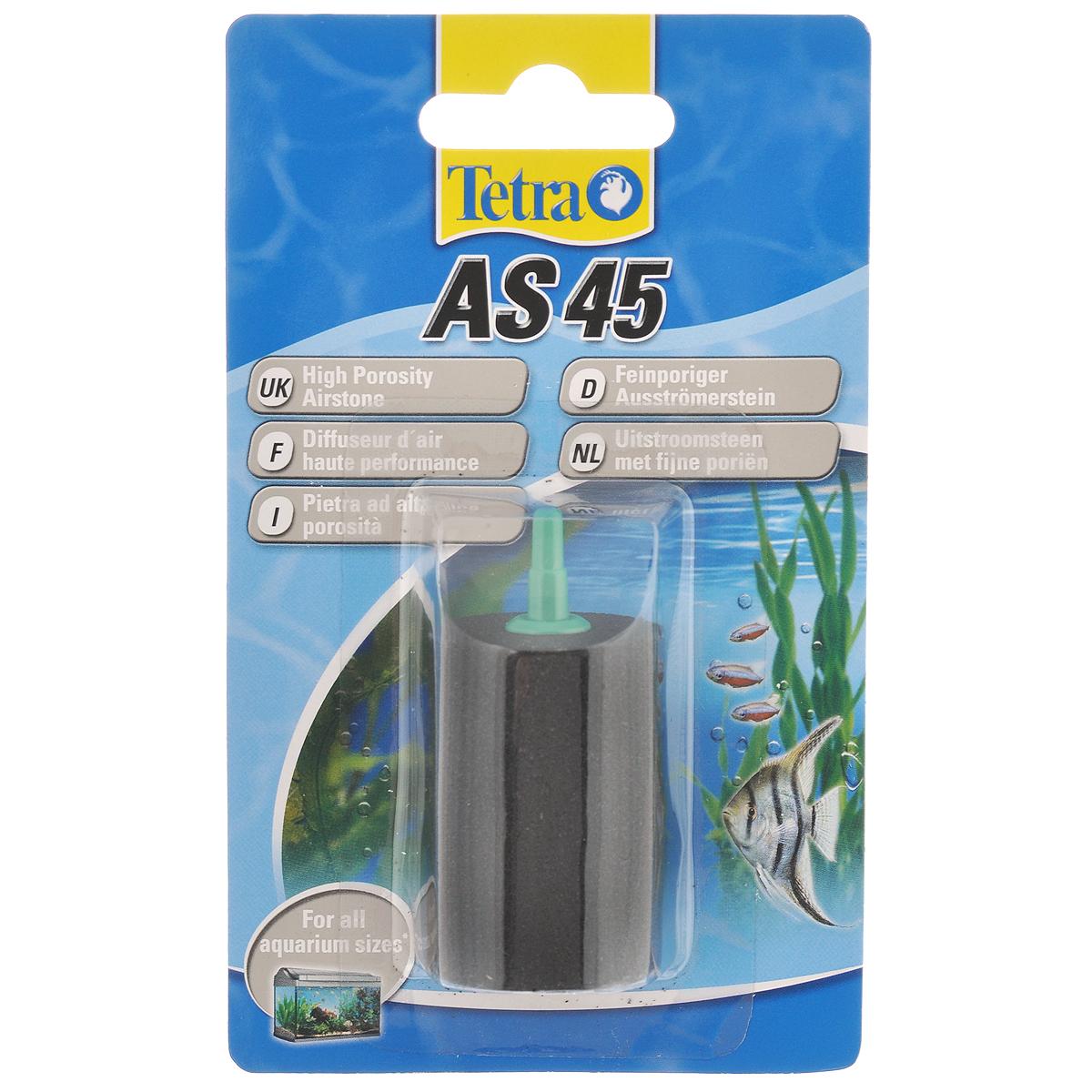 Воздушный распылитель Tetra AS 45603578Воздушный распылитель Tetra AS 45 - это мелкопористый распылитель для оптимального обеспечения аквариума кислородом. Сочетается с воздушным компрессором Tetra APS.Равномерное распределение кислорода в воде в виде мелких пузырьков;позволяет обеспечить полное использование возможностей компрессора;высокое качество изготовления обеспечивает долгую эксплуатацию;идеально подходит к воздушному компрессору Tetra APS.