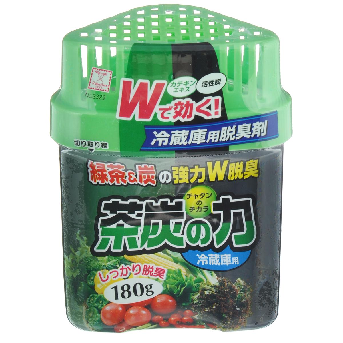 Нейтрализатор запахов для холодильника KOKUBO Сила угля и зеленого чая, 180 г21395598Нейтрализатор запахов для холодильника KOKUBO Сила угля и зеленого чая поглощает неприятные запахи, даже очень резкие и стойкие. Способствует долгому сохранению свежести и вкусовых качеств продуктов в холодильнике. Благодаря содержанию древесного угля и экстракта зеленого чая обеспечивает длительный антигрибковый и бактерицидный эффект. Продолжительность действия до 2-х месяцев при объеме холодильника до 450-ти литров. Состав: дистиллированная вода, гелиевый наполнитель, порошок угля Бинчо, естественный дезодорант, экстракт белого чая. Вес: 180 г.