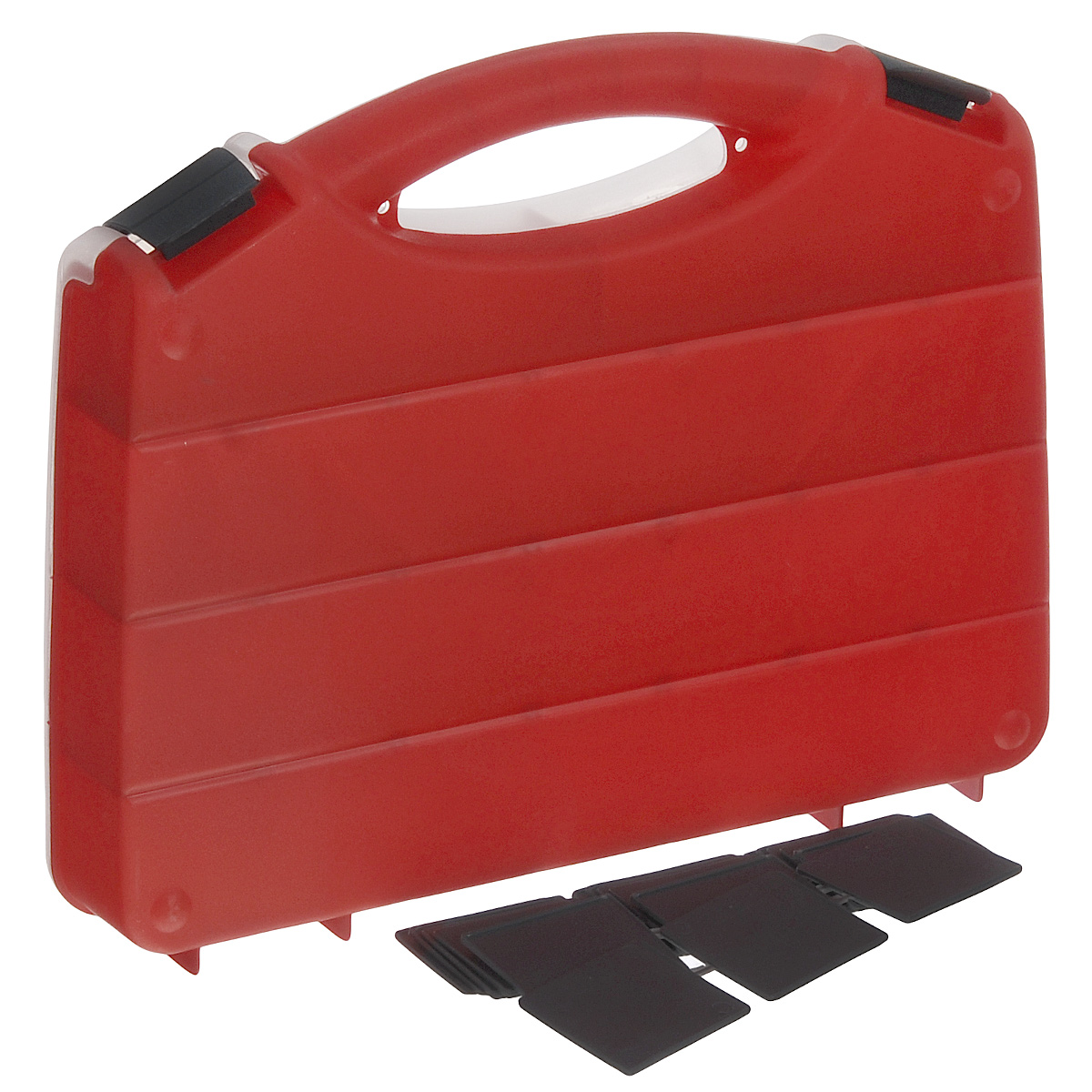 Органайзер Blocker Profi, со съемными перегородками, цвет: красный, 32 см х 26 см х 5,5 см7917IMLОрганайзер Blocker Profi изготовлен из высококачественного прочного пластика и предназначен для хранения и переноски инструментов, рыболовных принадлежностей и различных мелочей. Оснащен 5 большими отделениями, в три из которых можно вставить перегородки. Органайзер надежно закрывается при помощи пластмассовых защелок. Крышка выполнена из прозрачного пластика, что позволяет видеть содержимое.Размер самого большого отделения: 30,2 см х 5,5 см х 4,5 см.Размер самого маленького отделения: 4,5 см х 5,5 см х 4,5 см.