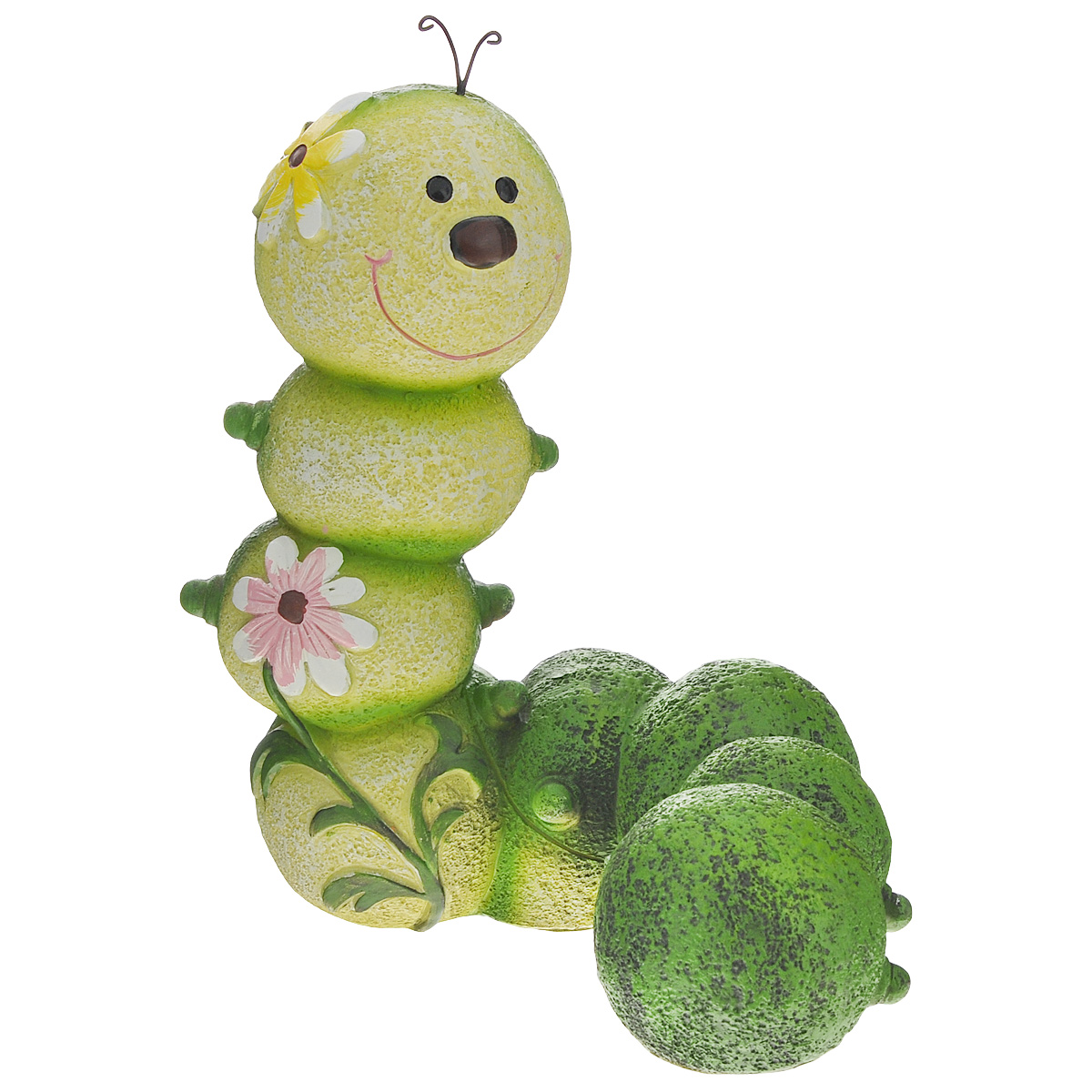 Фигурка садовая Green Apple Гусеница, 18,5 х 12,5 23 см