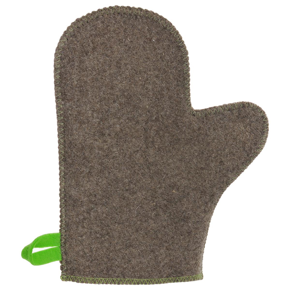 Рукавица для бани и сауны Главбаня, цвет: серый, салатовыйNLED-420-1.5W-WРукавица Главбаня, изготовленная из войлока - незаменимый банный атрибут. Изделие защищает руки от горячего пара, делает комфортным пребывание в парной. Такой рукавицей можно прекрасно промассировать тело.Рукавица оснащена петелькой для подвешивания на крючок. Размер: 29 см х 22,5 см.