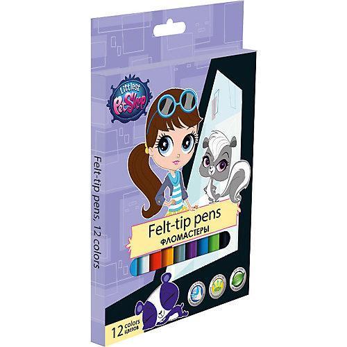 Набор цветных фломастеров, 12 шт Littlest Pet ShopFS-36052Набор цветных фломастеров с любимыми героями станут прекрасным подарком. Фломастеры предназначены для рисования и раскрашивания, помогут вашему ребенку создать неповторимые яркие рисунки. Набор включает в себя фломастеры 12 ярких насыщенных цветов в разноцветных корпусах (цвет колпачка соответствует цвету чернил). Каждый фломастер оснащен плотным вентилируемым колпачком, надежно защищающим чернила от испарения, корпус дополнен золотым тиснением логотипа. Фломастеры упакованы в картонную коробку.