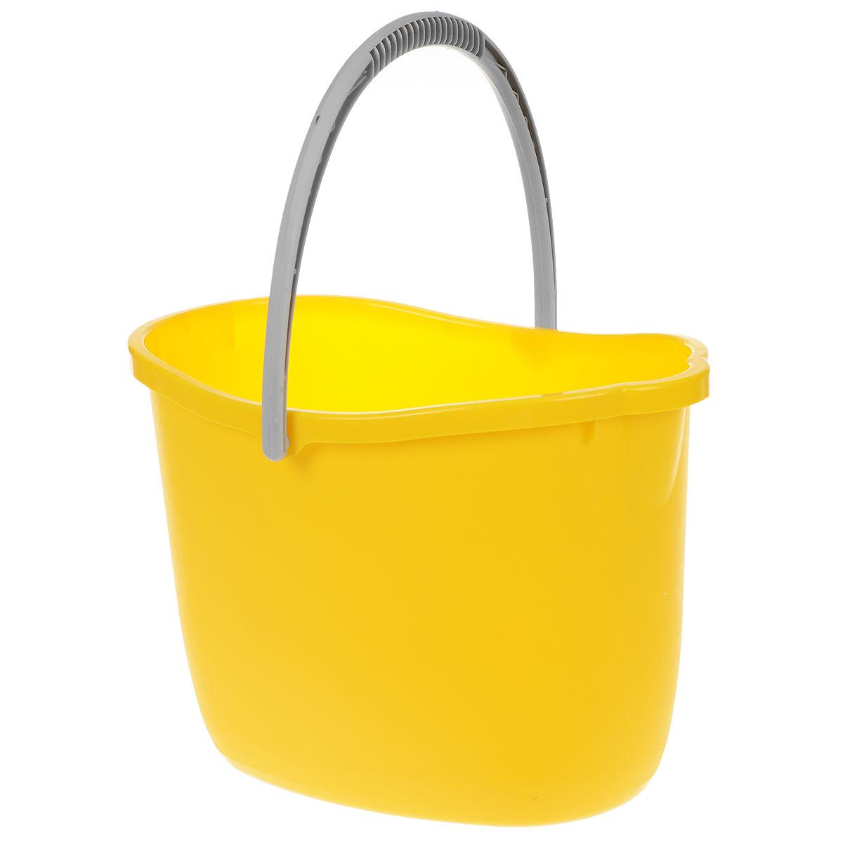 Ведро Apex, цвет: желтый, 15 л. 10365870323Ведро Apex изготовлено из высококачественного цветного пластика. Оно легче железного и не подвержено коррозии.Уникальный дизайн и эргономическая форма ручки позволяет с комфортом и безболезненно переносить содержимое ведра.Такое ведро станет незаменимым помощником в хозяйстве.Размер (по верхнему краю): 26 см х 37 см.Высота (без учета ручки): 26 см.