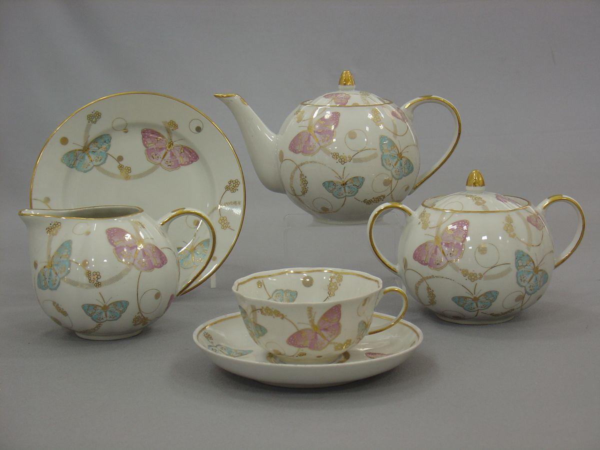 Сервиз чайный 21 предм.Тюльпан Летняя симфонияVT-1520(SR)Сервиз чайный 21 предм.Тюльпан Летняя симфония фарфор