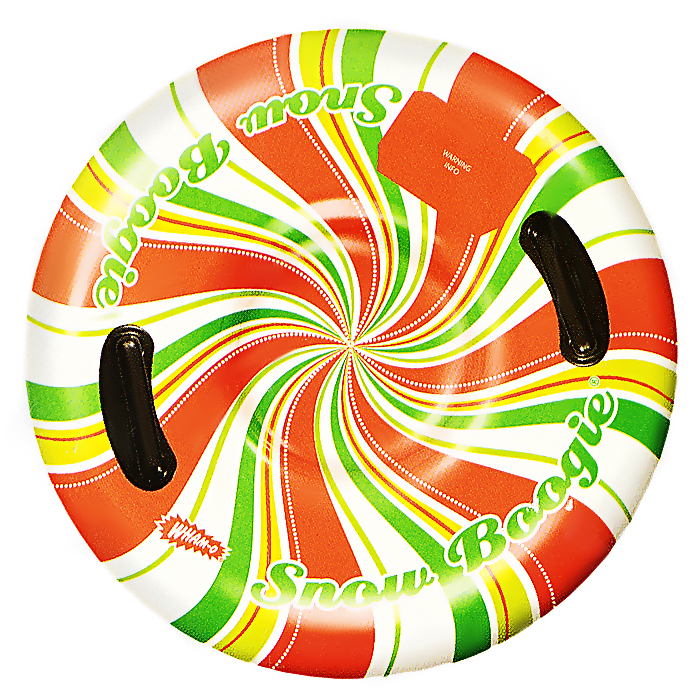 """Ватрушка Wham-O """"Воздушый поток"""" - это отличный вариант для тех, кто любит весело проводить время зимой, катаясь с горки. Она выполнена из высокопрочного современного материала и отлично выдерживает повышенные нагрузки. Санки снабжены двумя удобными ручками, за которые ребенок сможет держаться. Ватрушка станет незаменимым атрибутом зимних прогулок, а летом ее можно использовать как матрас для плавания. Ваш ребенок будет в восторге от такого подарка! В комплект входят две заплатки для ремонта в случае прокола. УВАЖАЕМЫЕ КЛИЕНТЫ! Просим обратить ваше внимание на тот факт, что товар поставляется в сдутом виде и надувается при помощи насоса (насос не входит в комплект)."""