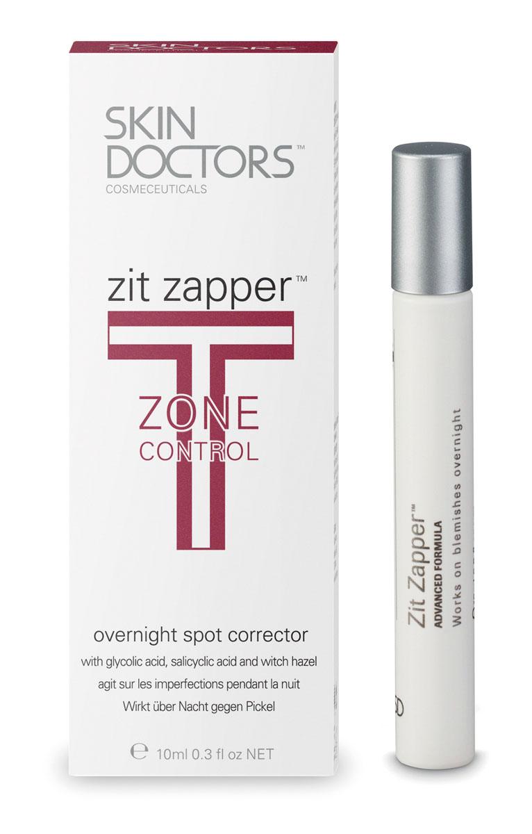 Skin Doctors Лосьон-карандаш T-Zone Control Zit Zapper, для проблемной кожи, 10 мл952215Лосьон-карандаш Zit Zapper - средство для интенсивного лечения угрей, которое всего за 8 часов заметно улучшает состояние кожи. В результате научных разработок была получена совершенно новая формула, позволяющая добиться уменьшения угрей за счет подсушивания в течение ночи. В отличие от других средств ежедневного использования, которые очищают кожу и устраняют причины появления прыщей, действие Zit Zapper направлено на их быстрое подсушивание.Действие Zit Zapper обусловлено: Глубоким очищением пор и отшелушиванием отмерших клеток;Подсушивающим эффектом;Очищением пораженного участка;Снятием воспаления. Характеристики: Объем: 10 мл. Производитель: Австралия. Артикул: 2210. Товар сертифицирован.
