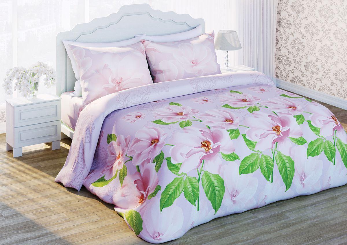 Комплект белья Любимый дом Магнолия жемчужная, 1,5-спальный, наволочки 70х70, цвет: белый, зеленый, розовый68801Комплект постельного белья Любимый дом Магнолия жемчужная состоит из пододеяльника, простыни и двух наволочек. Удивительной красоты рисунок сочетает в себе, нежность и теплоту.Постельное белье Любимый дом Магнолия жемчужная создано для романтичных натур, которые любят изысканный дизайн.Белье изготовлено из новой ткани Биокомфорт, отвечающей всем необходимым нормативным стандартам. Биокомфорт - это тканьполотняного переплетения, из экологически чистого и натурального 100% хлопка. Неоспоримым плюсом белья из такой ткани является мягкостьи легкость, она прекрасно пропускает воздух, приятна на ощупь, не образует катышков на поверхности и за ней легко ухаживать. При соблюдениирекомендаций по уходу, это белье выдерживает много стирок, не линяети не теряет свою первоначальную прочность. Уникальная ткань обеспечивает легкую глажку.Приобретая комплект постельного белья Любимый дом Магнолия жемчужная, вы можете быть уверенны в том, что покупка доставит вам и вашим близким удовольствие и подарит максимальный комфорт.