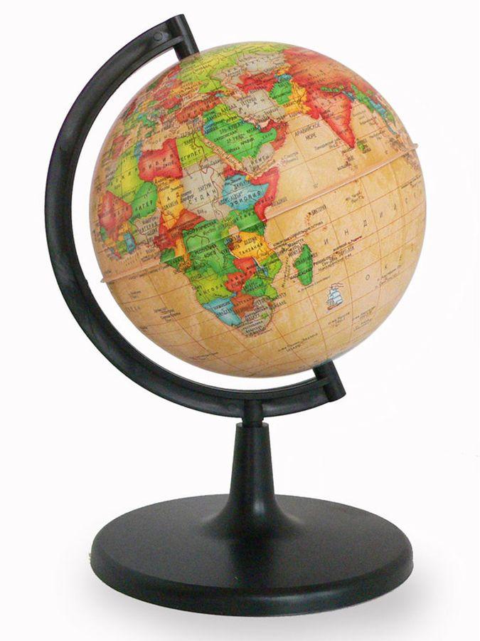 Глобусный мир Глобус политический Ретро-Александр диаметр 15 см10037На глобусах современное политическое устройство мира отображено художественными средствами стиля Ретро. На нем на общегеографической основе показаны границы государств и демаркационные линии, столицы и крупные населенные пункты. Диаметр: 150 мм. Масштаб: 1:90000000.