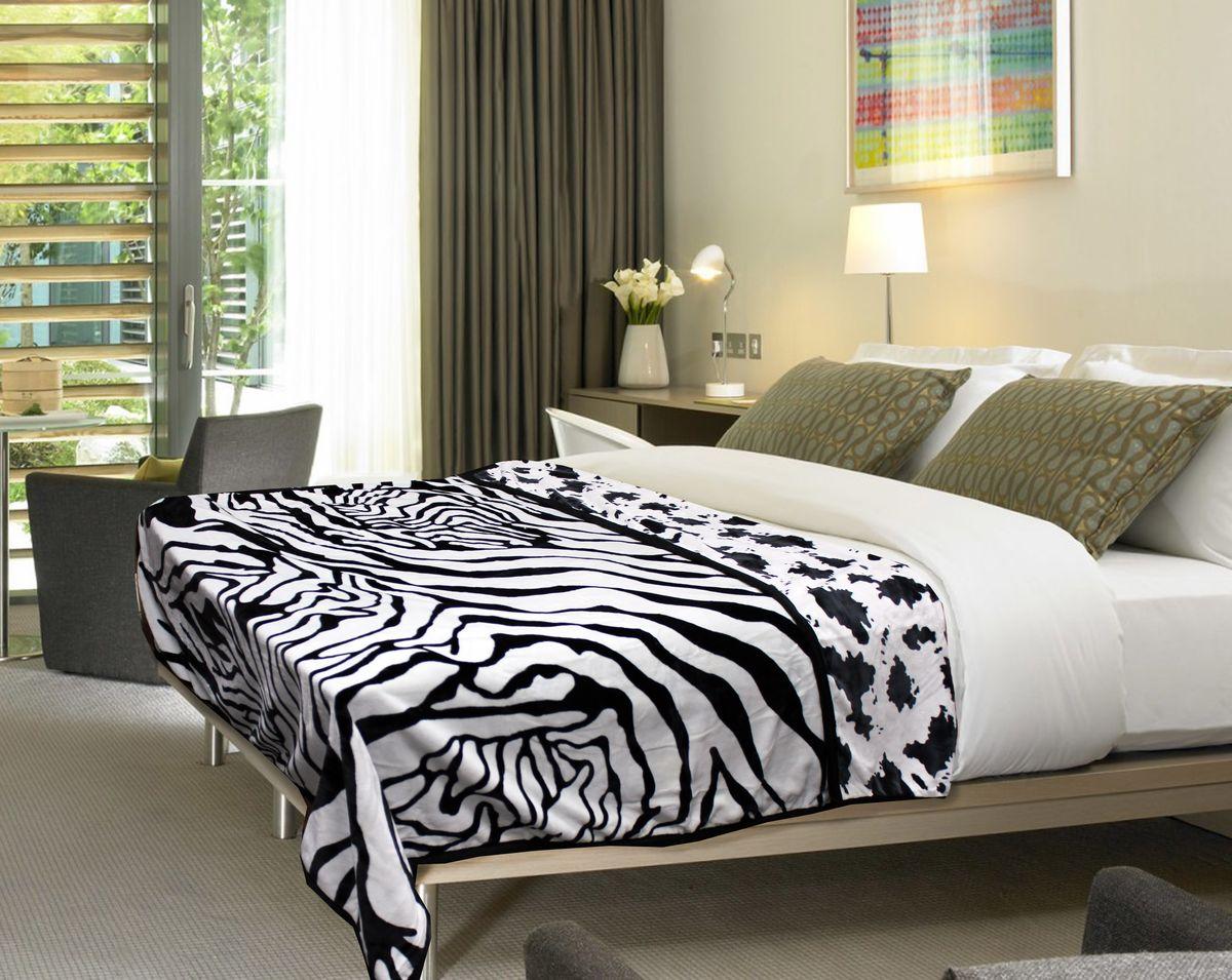 Плед Buenas Noches Zebra. Spot, цвет: белый, черный, 200 см х 220 см520403/5Плед Buenas Noches Zebra. Spot - это идеальное решение для вашего интерьера! Он порадует вас легкостью, нежностью и оригинальным дизайном! Плед выполнен из 100% полиэстера и оформлен рисунком под зебру. Полиэстер считается одной из самых популярных тканей. Это материал синтетического происхождения изполиэфирных волокон. Изделия из полиэстера не мнутся и легко стираются. После стирки очень быстро высыхают.Плед - это такой подарок, который будет всегда актуален, особенно для ваших родных и близких, ведь вы даритеим частичку своего тепла!