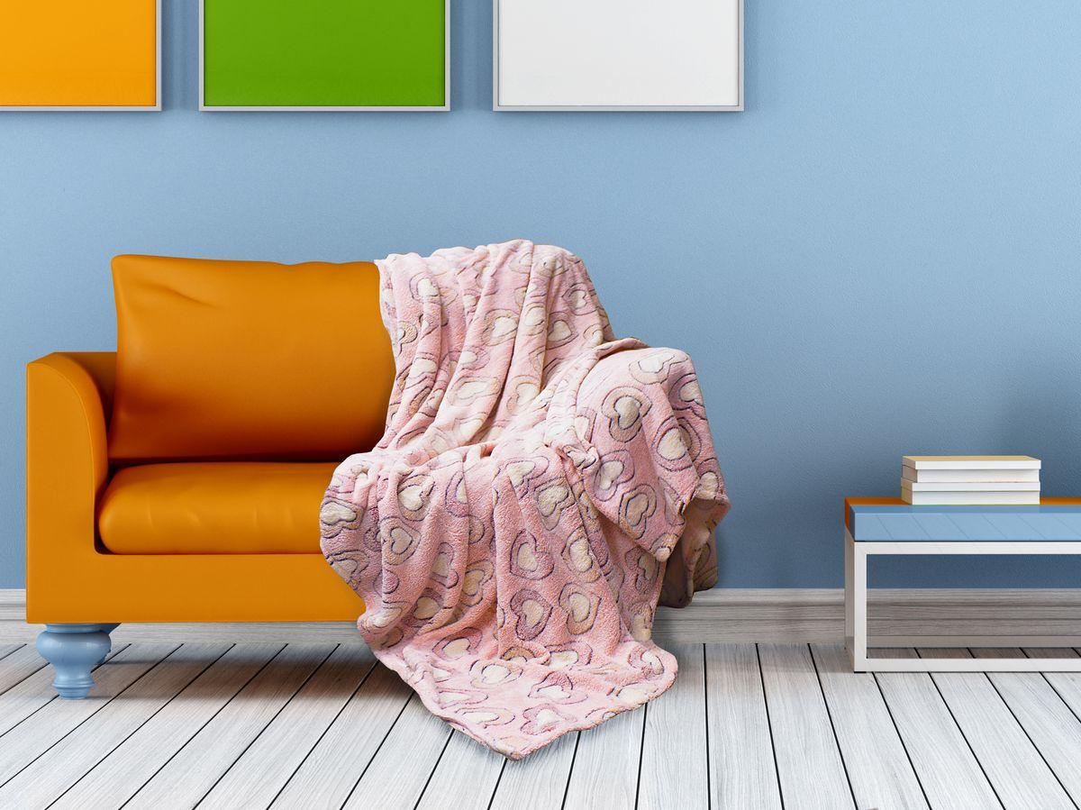 Плед Buenas Noches Bamboo, цвет: розовый, персиковый, 150 х 200 смS03301004Плед Buenas Noches - это идеальное решение для вашего интерьера! Он порадует вас легкостью, нежностью и оригинальным дизайном! Плед выполнен из 100% полиэстера и оформлен изображением разноцветных камешков. Полиэстер считается одной из самых популярных тканей. Это материал синтетического происхождения из полиэфирных волокон. Изделия из полиэстера не мнутся и легко стираются. После стирки очень быстро высыхают.Плед - это такой подарок, который будет всегда актуален, особенно для ваших родных и близких, ведь вы дарите им частичку своего тепла!Продукция торговой марки Buenas Noches сделана с особой заботой, специально для вас и уюта в вашем доме! Состав: 100% полиэстер.